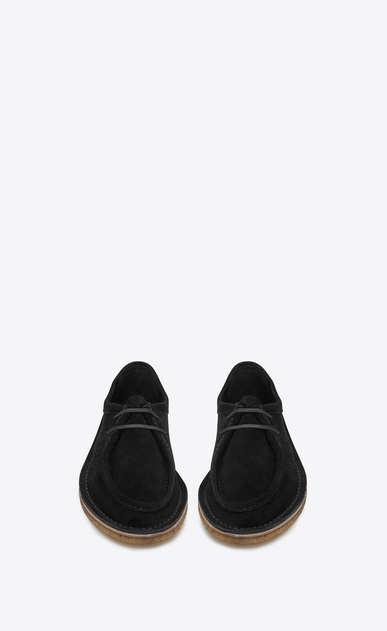 SAINT LAURENT Classic Shoes Man Nino 10 derby in black suede b_V4