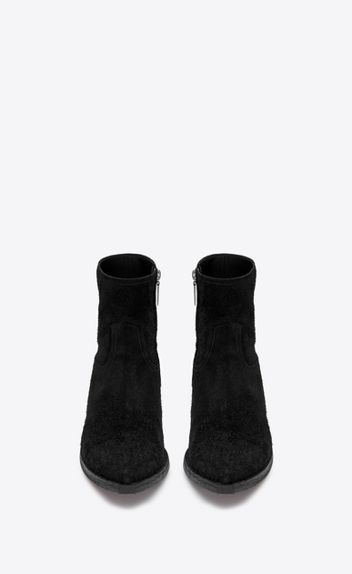 SAINT LAURENT Boots Man Lukas 40 boot in black suede b_V4