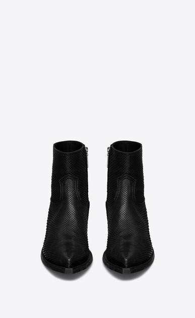 SAINT LAURENT Boots Man Lukas 40 ankle boot in matte black python b_V4