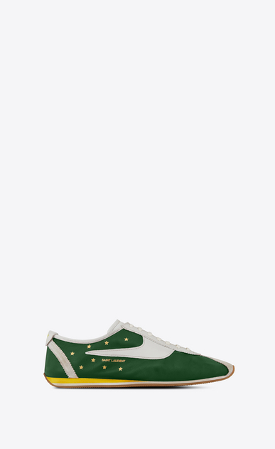 SAINT LAURENT Low Sneakers メンズ Jay sneaker in green and white leather a_V4