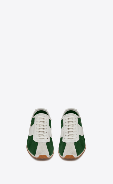 SAINT LAURENT Low Sneakers メンズ Jay sneaker in green and white leather b_V4