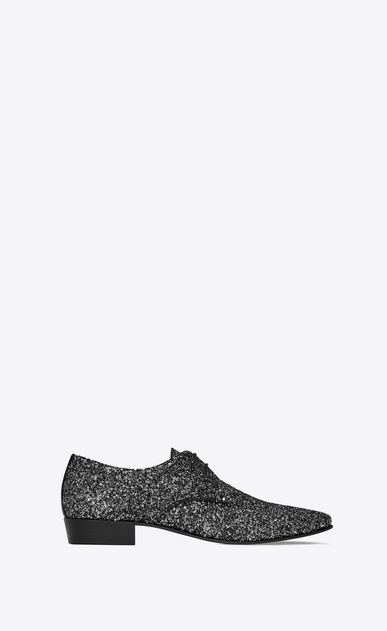 SAINT LAURENT Classic Shoes Man Hopper 30 derby in black glitter a_V4