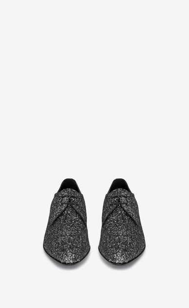 SAINT LAURENT Classic Shoes Man Hopper 30 derby in black glitter b_V4