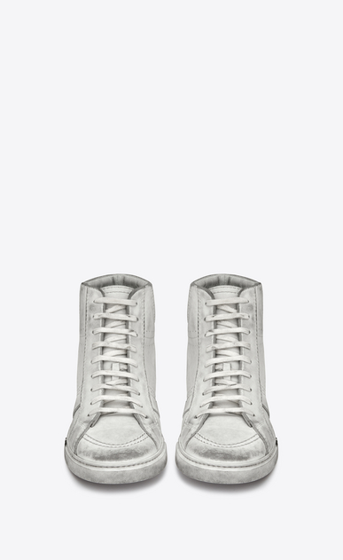 SAINT LAURENT High top sneakers Man Joe sneaker in worn-look leather b_V4