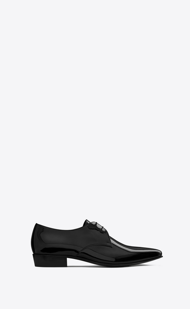 SAINT LAURENT Classic Shoes Man Hopper 30 derby in black patent leather a_V4