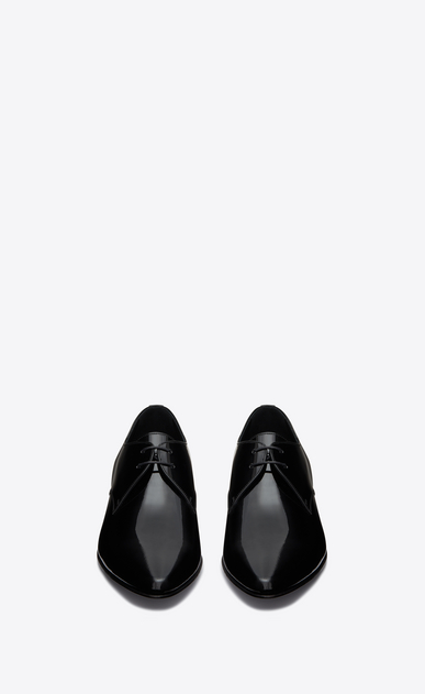 SAINT LAURENT Classic Shoes Man Hopper 30 derby in black patent leather b_V4