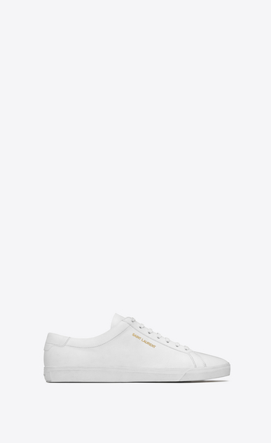 SAINT LAURENT Low Sneakers メンズ Andy sneaker in white leather a_V4