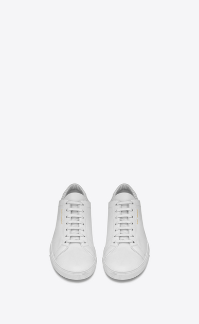 SAINT LAURENT Low Sneakers メンズ Andy sneaker in white leather b_V4