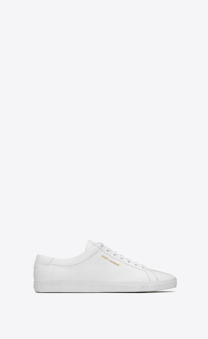 cheap sale discount many kinds of cheap online Saint Laurent Andy leather sneakers with paypal cheap online 1iy7EIxP