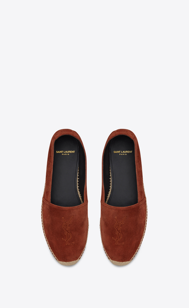 SAINT LAURENT Espadrille Man Monogram espadrille in suede b_V4