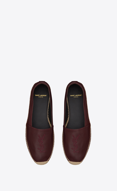 SAINT LAURENT Espadrille Man Monogram espadrille in burgundy leather b_V4