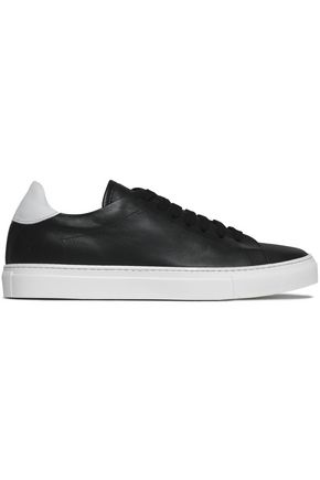 IRIS & INK Tanya two-tone leather sneakers