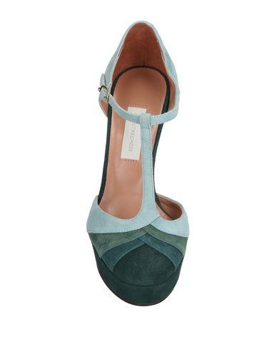 Фото 2 - Женские туфли  светло-зеленого цвета