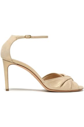 CASADEI Twisted metallic brushed-leather sandals