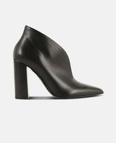 High Vamp Ankle Boots in Black