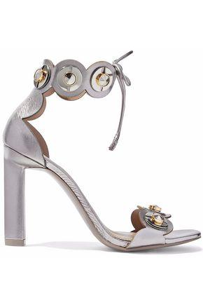 MERCEDES CASTILLO Lyris embellished metallic leather sandals