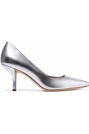 DIANE VON FURSTENBERG Meina metallic leather pumps