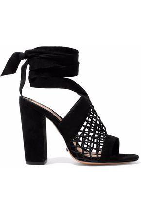 SCHUTZ Bamby lattice-paneled suede sandals