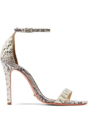 SCHUTZ Cadey Lee snake-effect leather sandals