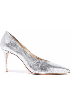 SCHUTZ Salma metallic cracked-leather pumps