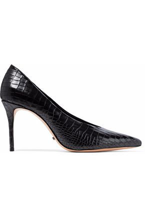SCHUTZ Salma croc-effect leather pumps