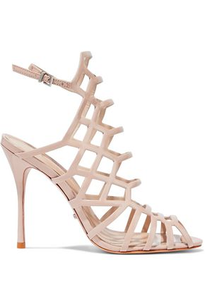 SCHUTZ Juliana cutout leather sandals