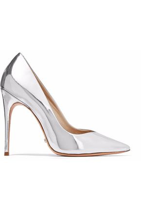 WOMAN BARALA MIRRORED-LEATHER PUMPS SILVER