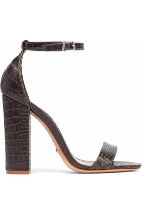 SCHUTZ Enida croc-effect leather sandals