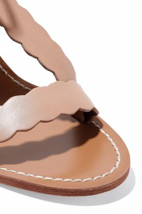 ZIMMERMANN Scalloped leather sandals