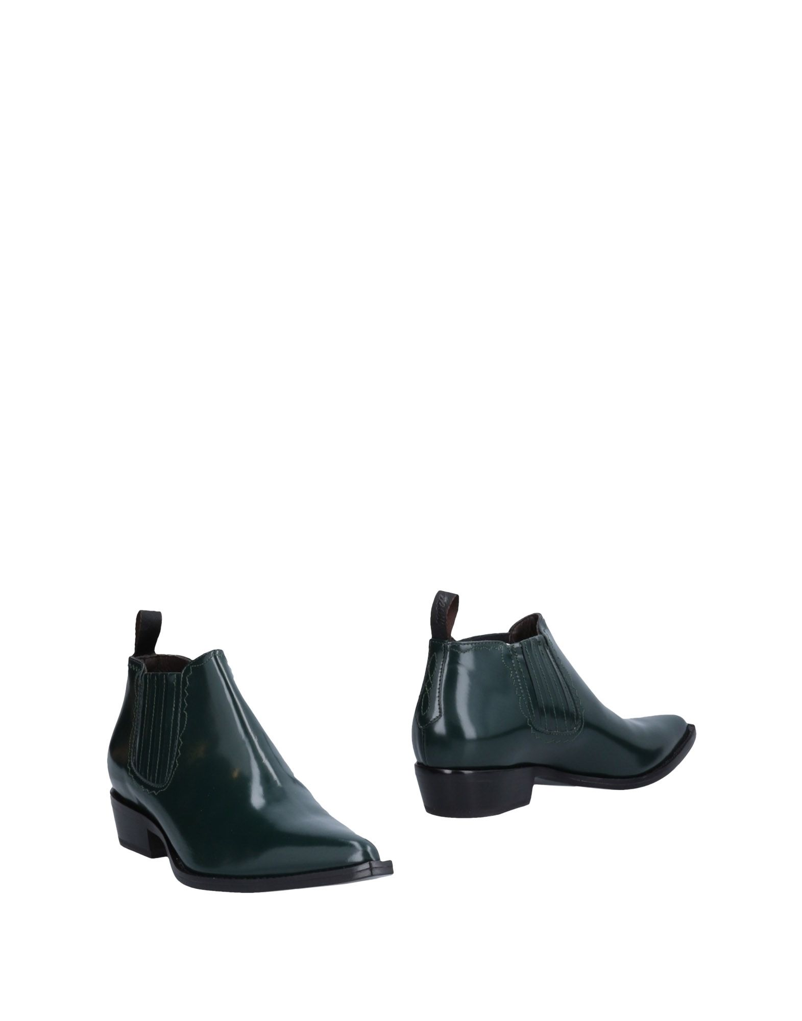SONORA Ankle Boots in Dark Green