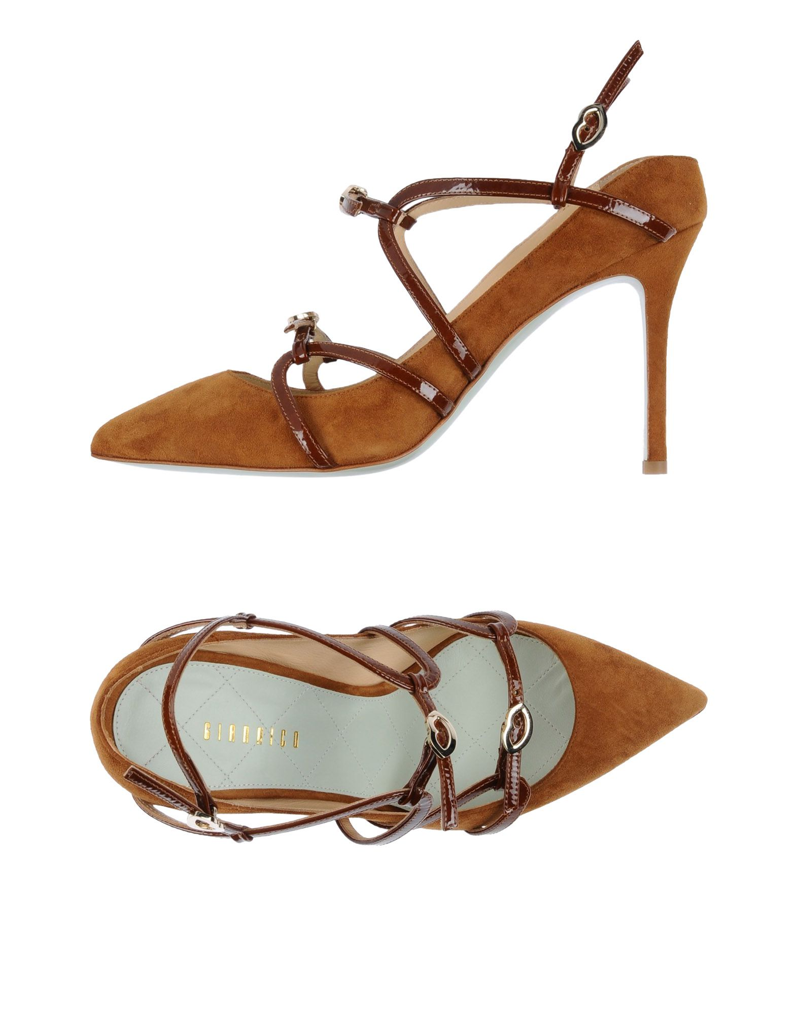 GIANNICO Pump in Camel