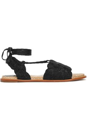 PALOMA BARCELÓ Braided leather sandals