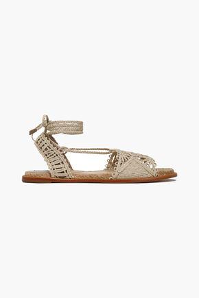 PALOMA BARCELÓ Cruis braided raffia sandals