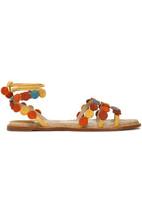 PALOMA BARCELÓ Antibes color-block suede sandals