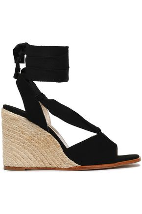 PALOMA BARCELÓ Faco suede espadrille wedge sandals