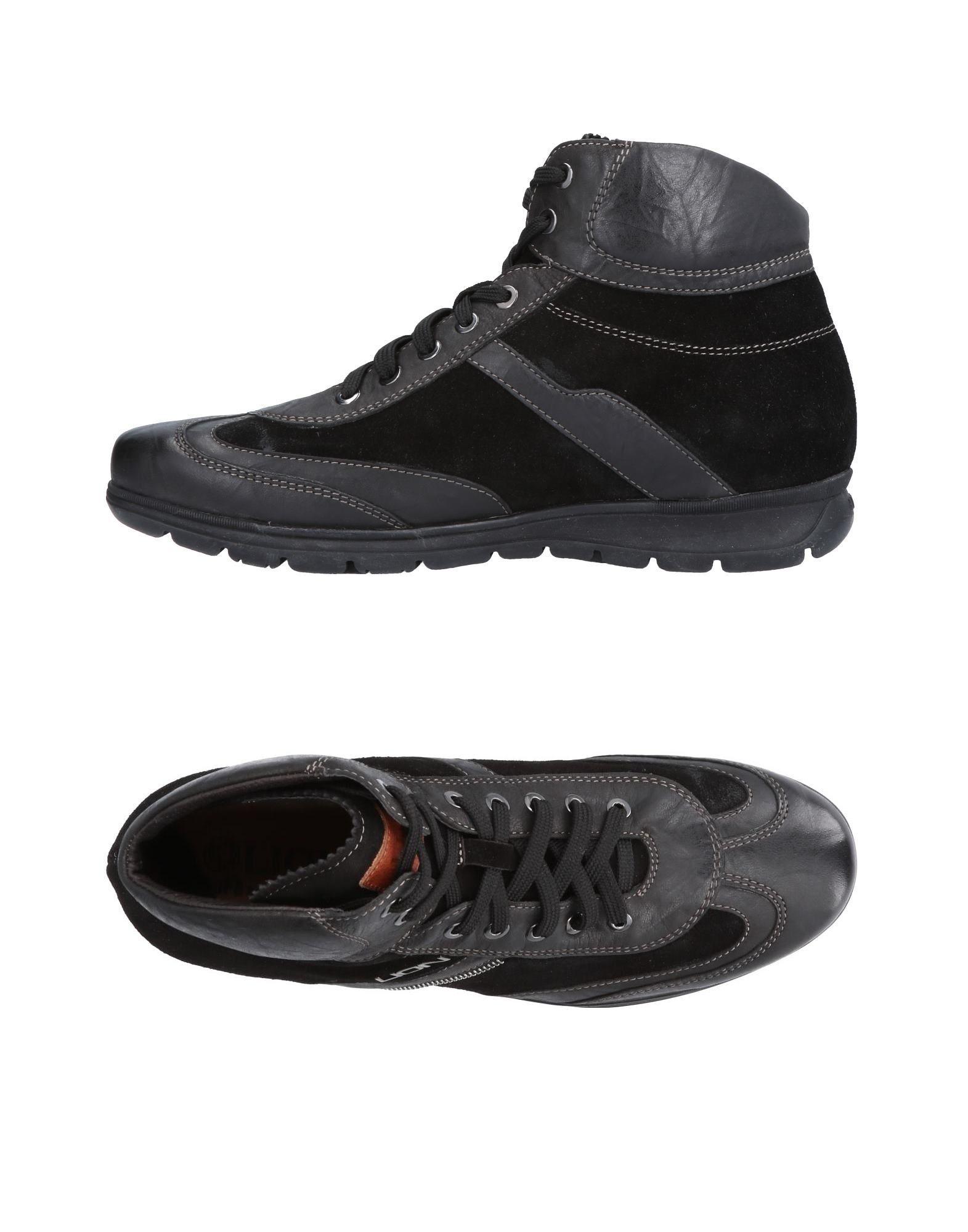 《送料無料》LION メンズ スニーカー&テニスシューズ(ハイカット) ブラック 40 革