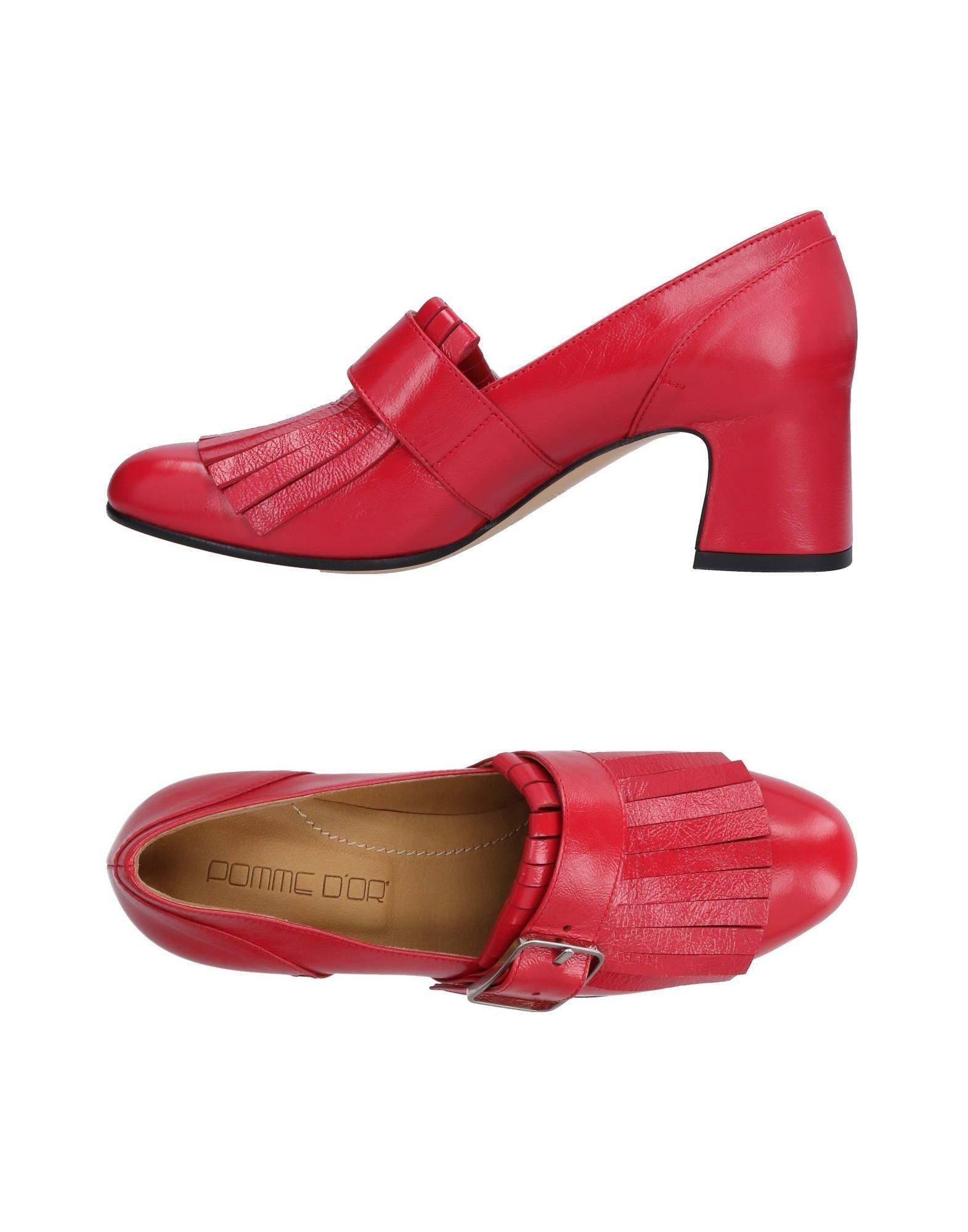 POMME D'OR Loafers in Red