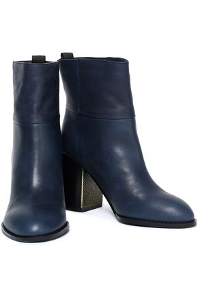 Jil Sander Navy Woman Leather Ankle Boots Navy