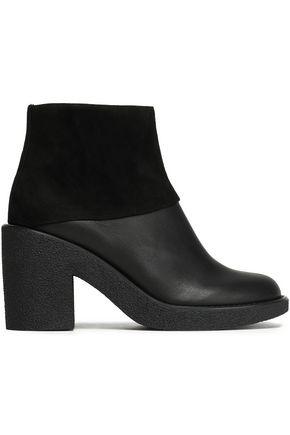 JIL SANDER NAVY Suede platform ankle boots