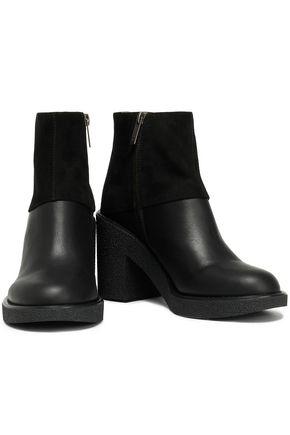 Jil Sander Navy Woman Suede Platform Ankle Boots Black