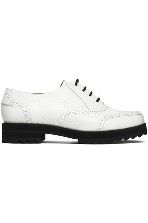 JIL SANDER NAVY Embossed leather brogues