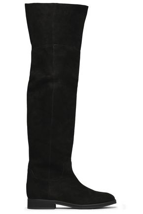 JIL SANDER NAVY Suede over-the-knee boots