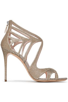 CASADEI Cutout metallic mesh sandals