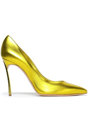 CASADEI Blade metallic leather pumps
