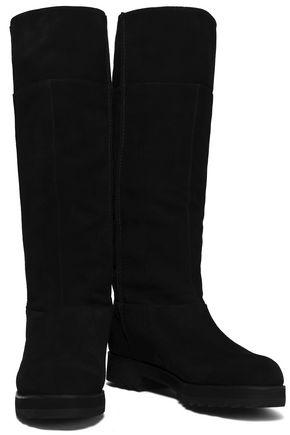 Jil Sander Navy Woman Suede Knee Boots Black