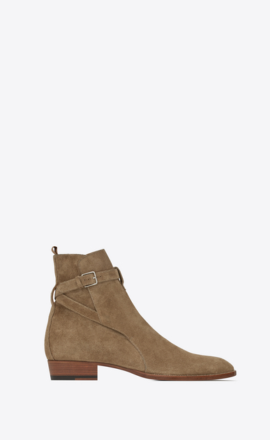 SAINT LAURENT Boots Man wyatt jodhpur boot in suede a_V4