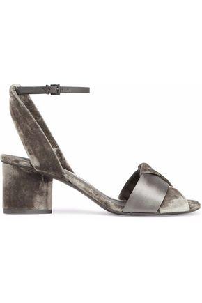 MERCEDES CASTILLO Pippa twisted satin and velvet sandals