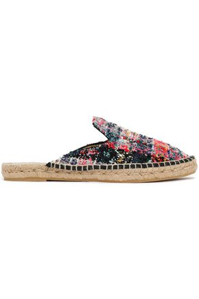 MANEBÍ Bouclé-tweed espadrille slippers