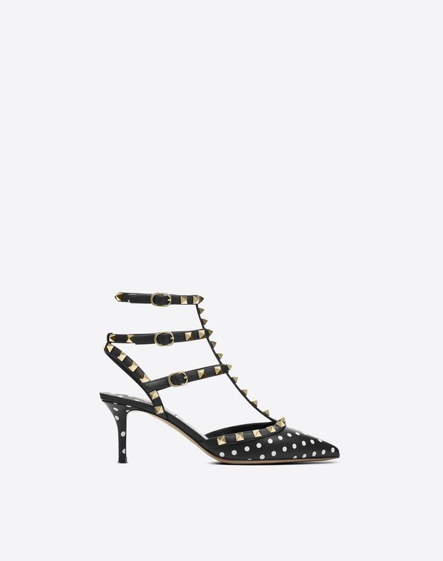 Polka Dot Cage Rockstud Pump 65mm