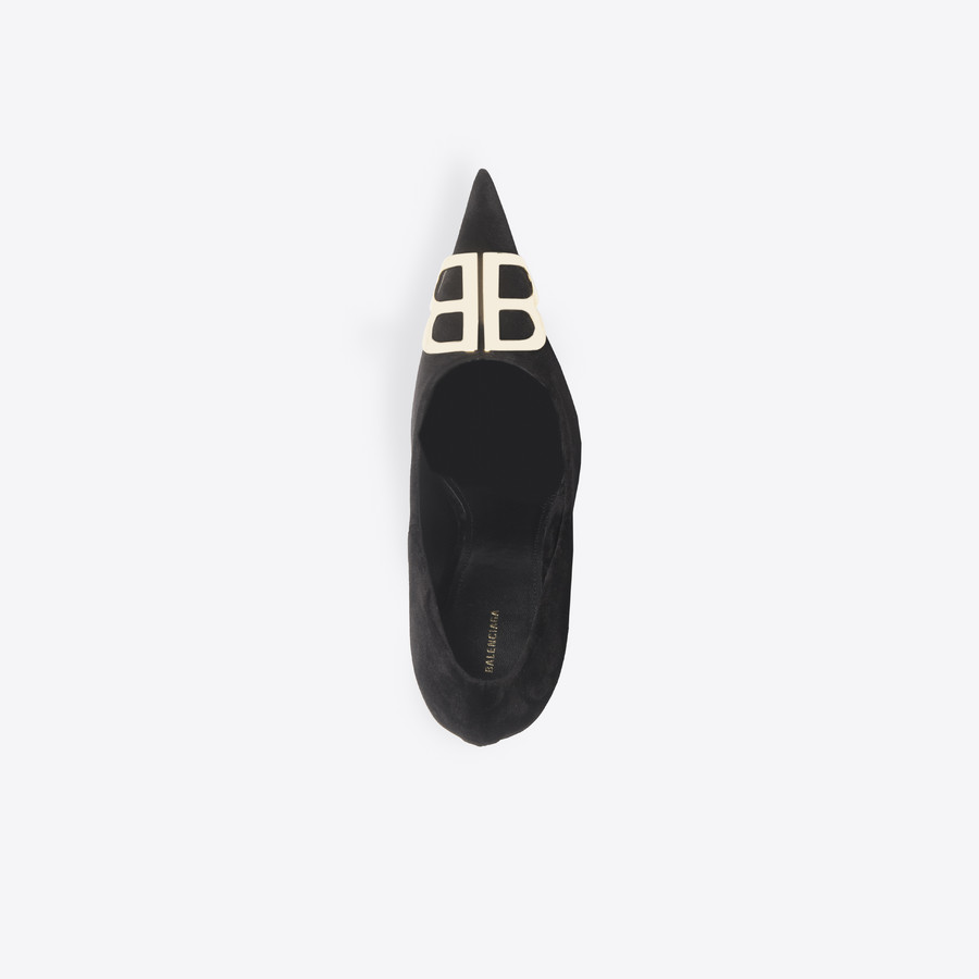 BALENCIAGA BB Pumps Velvet BB Shoes Woman e